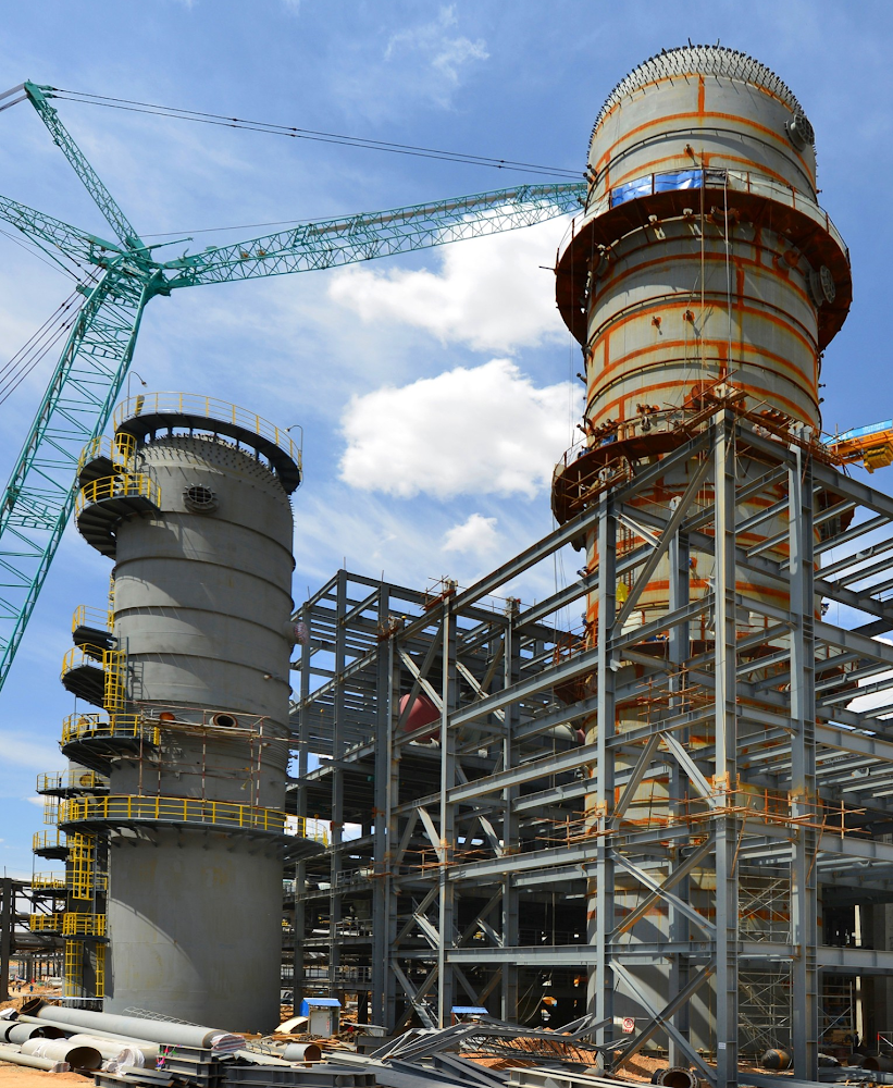 Gas to liquid reactors construction